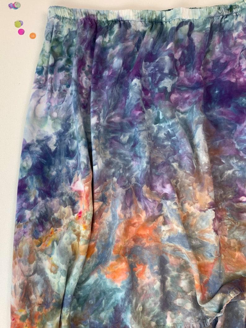 16-18 XL-Stunning sunset inspired ice dye hi lo skirt X-Large tie dye skirt