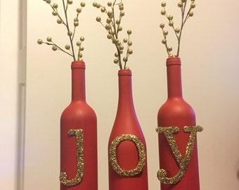 Maison Decor de joie vin bouteilles