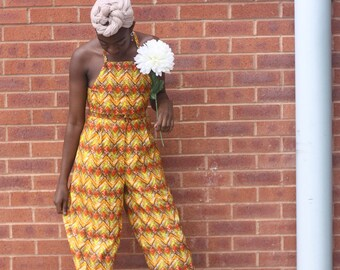 ANKARA TWO-PIECE - African print two-piece, top and culottes