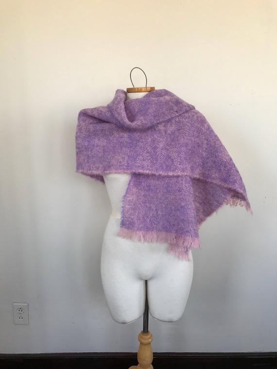 8ffff971a231 Violet rose laine Mohair longue écharpe châle de mohair rose   Etsy