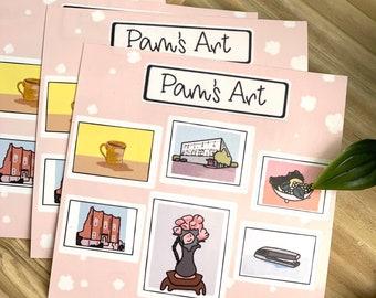 Pam's Art Sticker Sheet