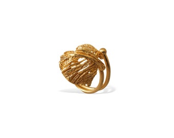 Elegant Ring, Gold  Ring, Statement Gold Ring, Classy Ring for Her Handcrafted Elegant Ring for Women, Anniversary Gift for Her, Porpe