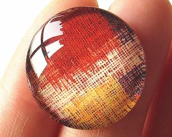 Plaid Grid Pattern Cabochon Circle Handmade Photo Glass Round Dome Flat Back 8mm 10mm 12mm 14mm 16mm 18mm 20mm 25mm 30mm CW639