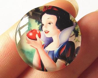 Minnie Mouse Cabochon Circle Handmade Photo Glass Round Dome Flat Back 8mm 10mm 12mm 14mm 16mm 18mm 20mm 25mm 30mm CW764