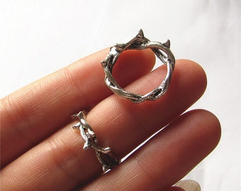 Crown of Thorns Charm Pendant Antique Silver Antique Bronze Handmade Jewelry Finding 23mm 7 pcs
