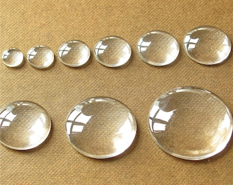 Circle Clear Glass Cabochon Round Dome Flat Back Magnify Inserts Transparent Domes 8mm 10mm 12mm 14mm 16mm 18mm 20mm 25mm 30mm