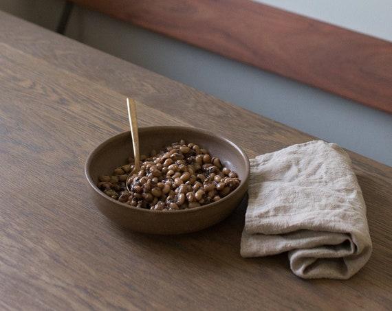 Earthen low bowl, dinner bowl, pasta bowl, salad bowl, rustic bowl, hand thrown bowl