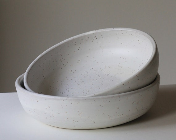 Set of white bowls + ring dish [Kibos]