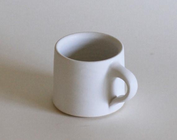 White mug, coffee mug, matte white mug, ceramic mug, handmade mug, tea mug, white mug
