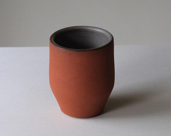 raw clay tumbler, raw clay drink ware, ceramic drink ware, ceramic tumbler