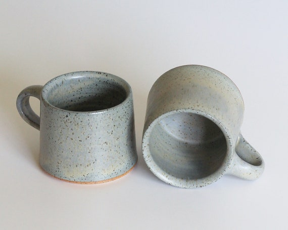 SET OF 2 ceramic mugs, coffee mug, tea mug, handmade mug, hand thrown mug, blue coffee mug, blue mug, rustic mug, farmhouse mug