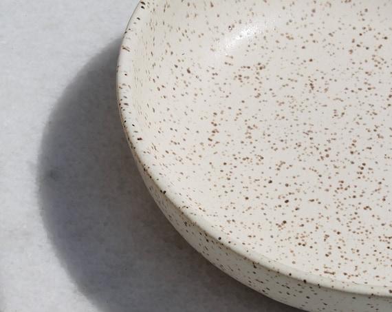 Speckled Dune Bowl, rustic bowl, handmade bowl, pottery bowl, salad bowl, pasta bowl, white bowl