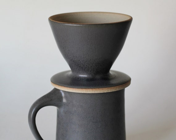 Grey Mug + Coffee Pour Over SET