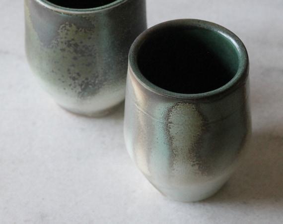 Soda fired tumbler, porcelain tumbler, drink ware, ceramic tumbler, pottery tumbler, water tumbler
