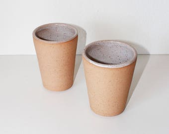 Set of 2 Ceramic Tumblers, Set of Two Ceramic Vessels, Ceramic Cups, Set of two tea cups