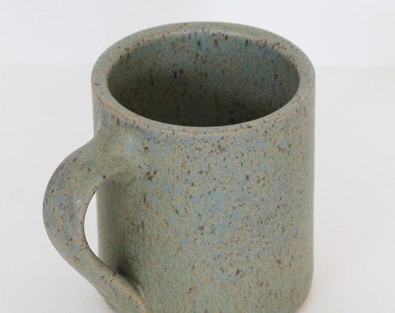 Green coffee mug, Green Mug, Coffee Mug, Tea Mug, Handthrown Mug, Pottery Mug, Handmade Mug