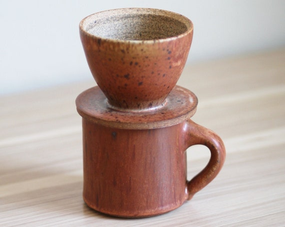 Coffee Pour Over and Mug Set, pour over, coffee pour over, pour over coffee, coffee filter, coffee lovers gift, ceramic pour over