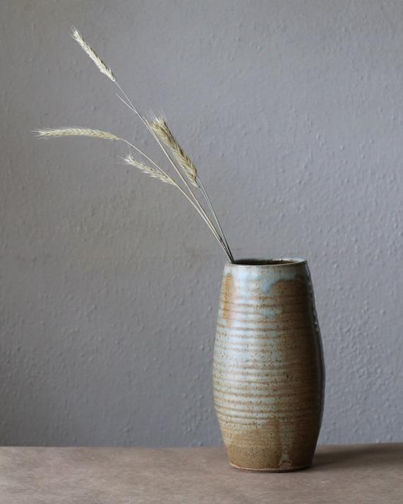 vase, large vase, rustic vase, tall vase, handthrown vase, farmhouse vase, simple vase, pottery vase, modern vase, midcentury modern vase