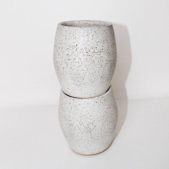 Set of 2 ceramic tumblers