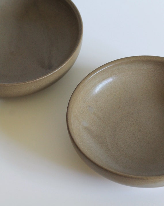 SET OF 2 brown bowls, dinner bowl, pasta bowl, salad bowl, rustic bowl, hand thrown bowl,