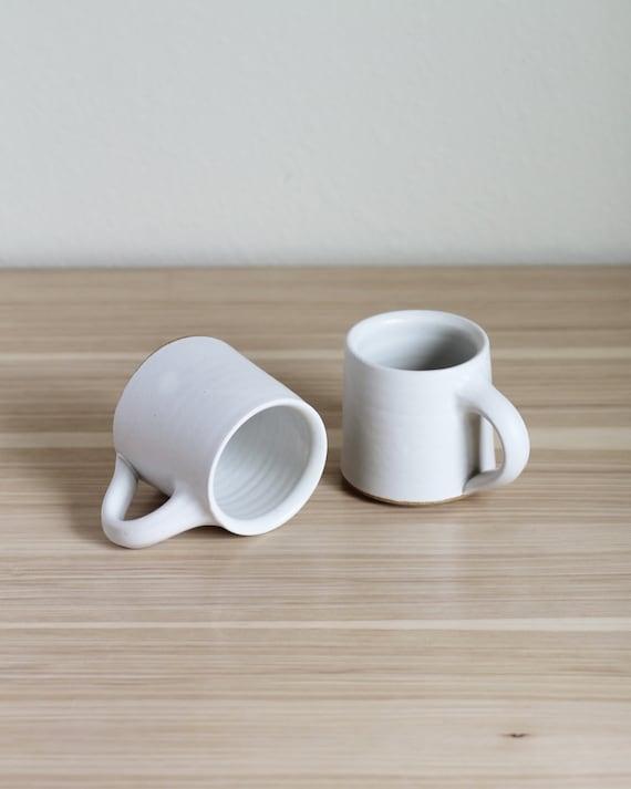 SET OF 2 white mugs, ceramic mug, coffee mug, tea mug, handmade mug, hand thrown mug, white coffee mug, white mug, rustic mug