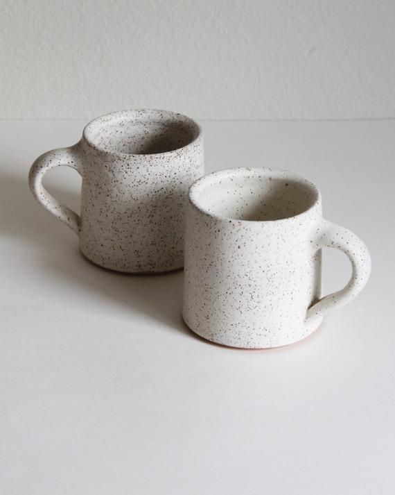 SET OF 2 16oz white mugs, ceramic mug, coffee mug, tea mug, handmade mug, hand thrown mug, white coffee mug, white mug, rustic mug
