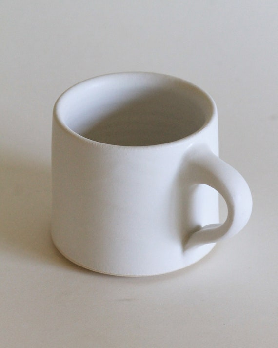 White mug, coffee mug, matte white mug, ceramic mug, handmade mug, tea mug, white mug