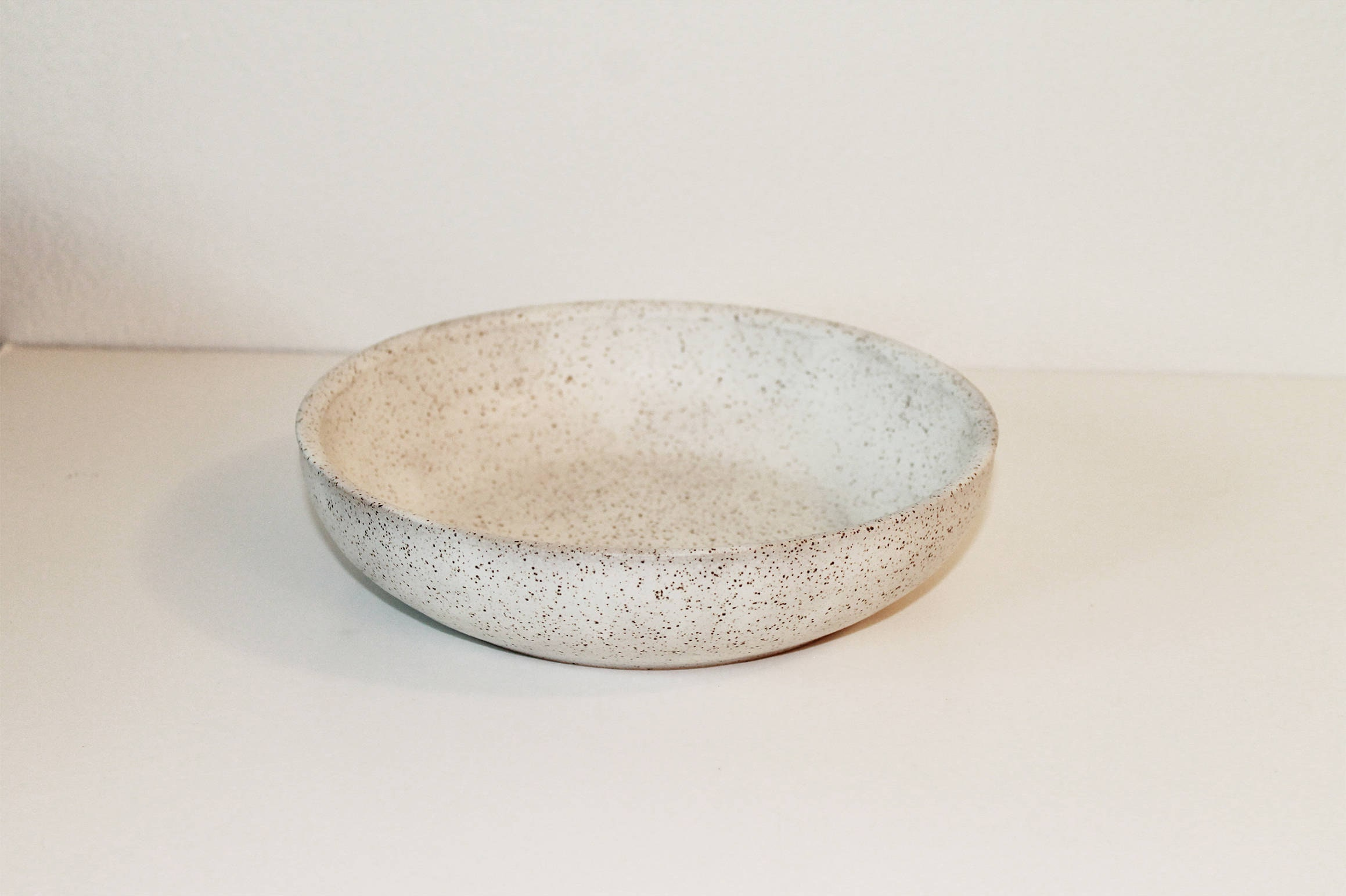 Speckled White Bowl Rustic Bowl Handmade Bowl Pottery