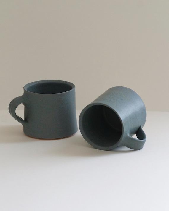 Set of 2 blue mugs, ceramic mug, coffee mug, coffee mug, tea mug, handmade mug,