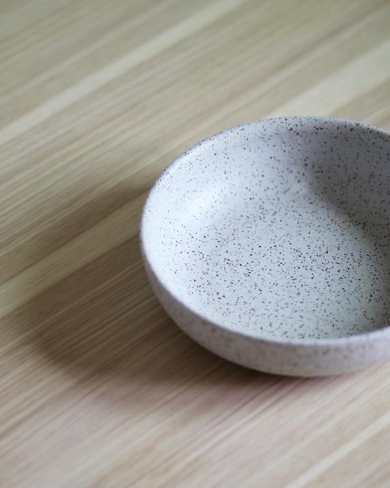 Speckled white bowl, rustic bowl, handmade bowl, pottery bowl, salad bowl, pasta bowl, white bowl