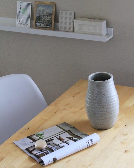 vase, white vase, tall vase, large vase, rustic vase, farmhouse vase, pottery vase