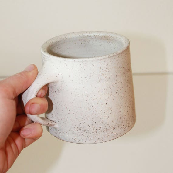 10oz White mug, ceramic mug, coffee mug, coffee mug, tea mug, handmade mug,