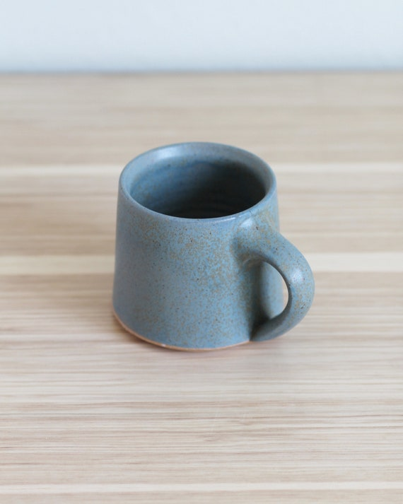 Turquoise mug, hand thrown mug, handmade mug, coffee mug, tea mug, ceramic mug, pottery mug