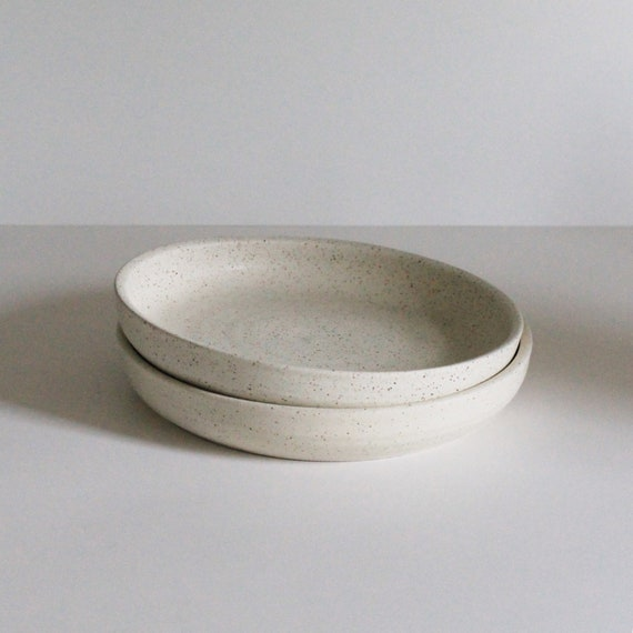 """SET OF TWO 8.5"""" low bowls"""