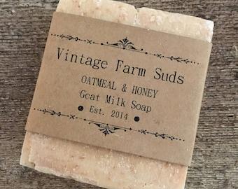 Honey & Oatmeal Goat Milk Soap