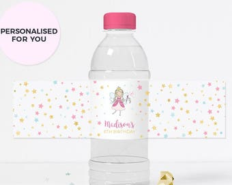 Princess water bottle label, Personalised Princess party label, PRINTABLE princess label, Princess bottle label Princess birthday label pdf
