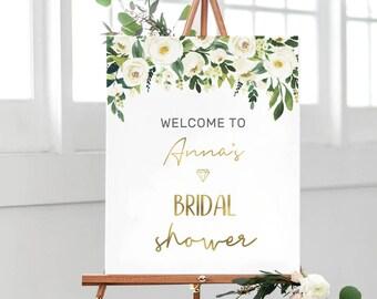 bridal shower sign etsy