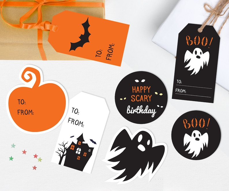 picture relating to Printable Halloween Gift Tags known as Halloween present tags, Printable Halloween tags, Halloween birthday tags, Printable present tags, Halloween Printable, Ghost tag Pumpkin present tag