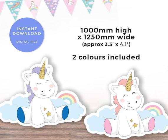 Large Unicorn Cutout Printable Unicorn Cardboard Cut Out Etsy