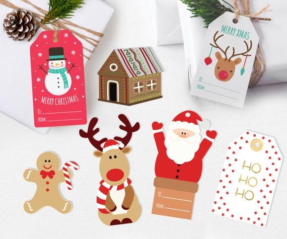 Santa Gift Tags Kids Christmas Gift Tags Digital Christmas Etsy
