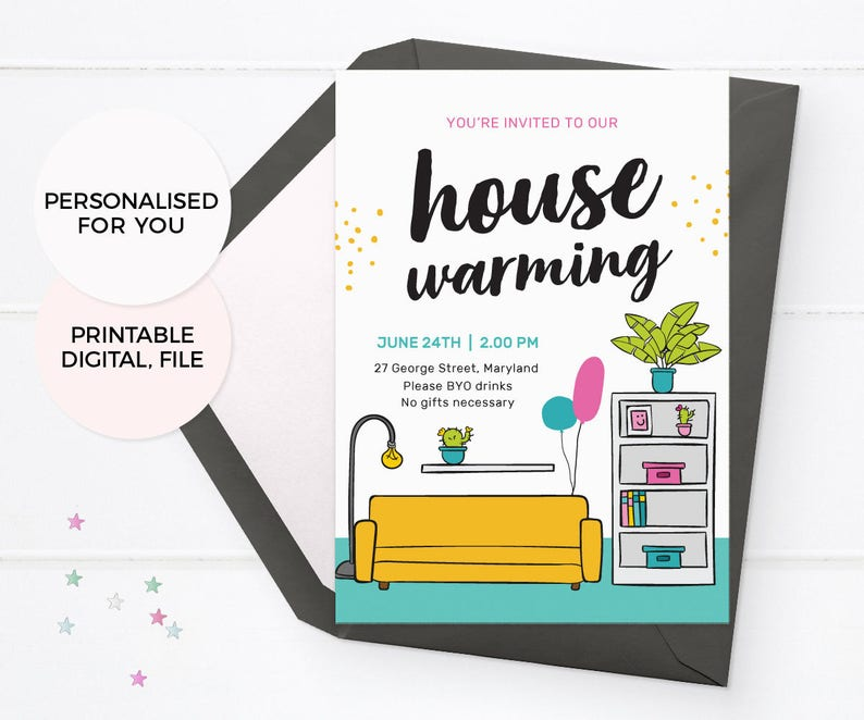picture about Printable Housewarming Invitations titled Impressive housewarming invitations, PRINTABLE housewarming invites, housewarming social gathering invitations, Area warming invites, residence warming invite