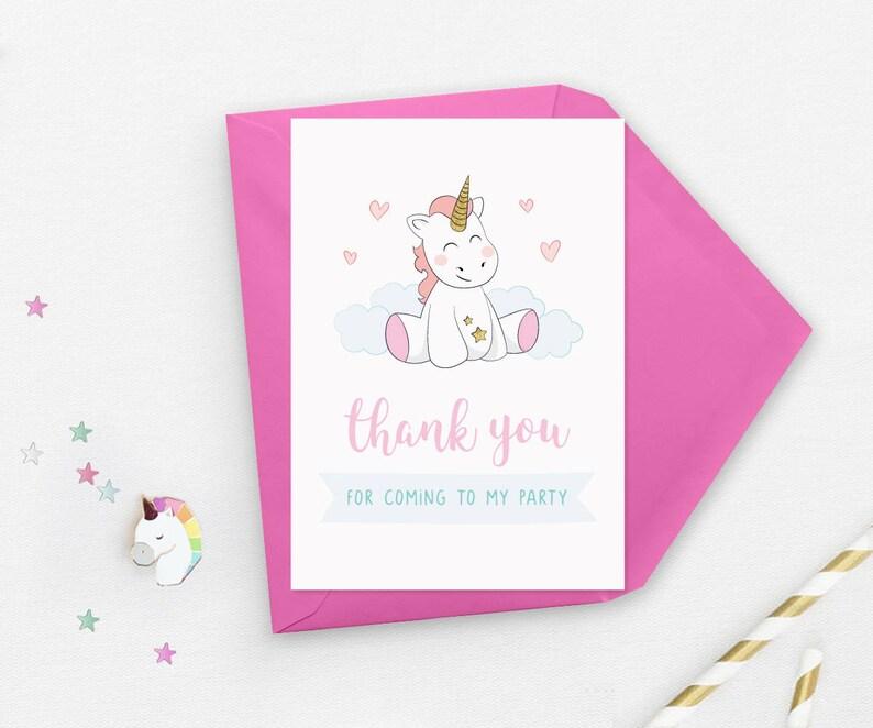 Unicorn 1st Birthday Invitations