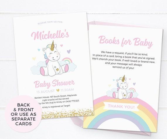 graphic about Printable Baby Shower Invitations Girl referred to as Unicorn youngster shower invites, Lady boy or girl shower invites PRINTABLE kid shower invitations Unicorn kid sprinkle invitation Get together printable