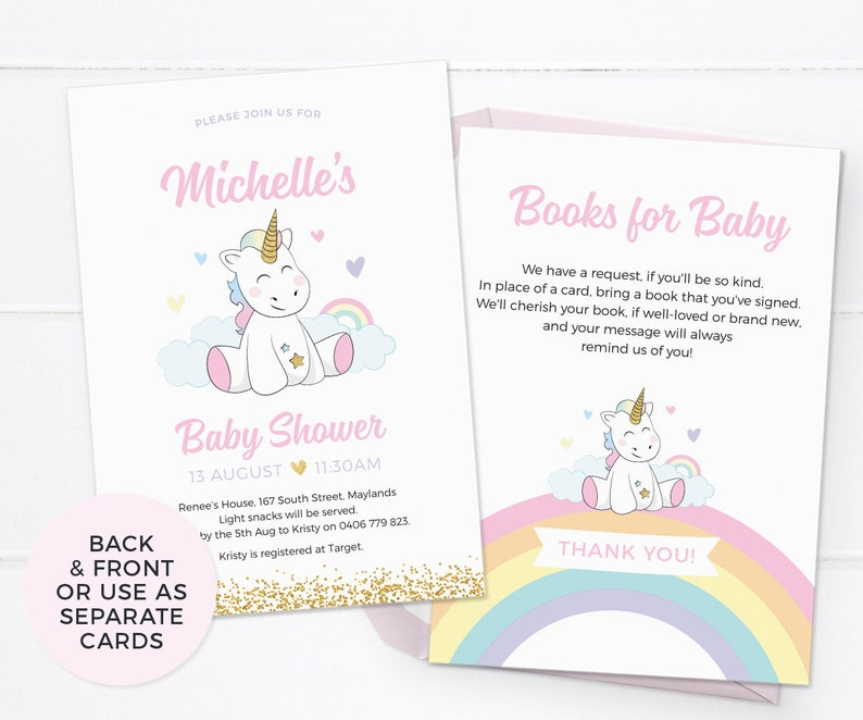 picture relating to Printable Girl Baby Shower Invitations identified as Unicorn little one shower invites, Lady boy or girl shower invites PRINTABLE kid shower invitations Unicorn kid sprinkle invitation Bash printable