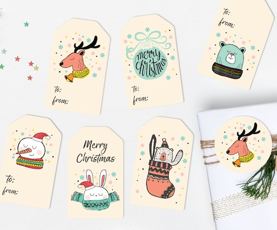 It is an image of Adorable Cute Gift Tags Printable