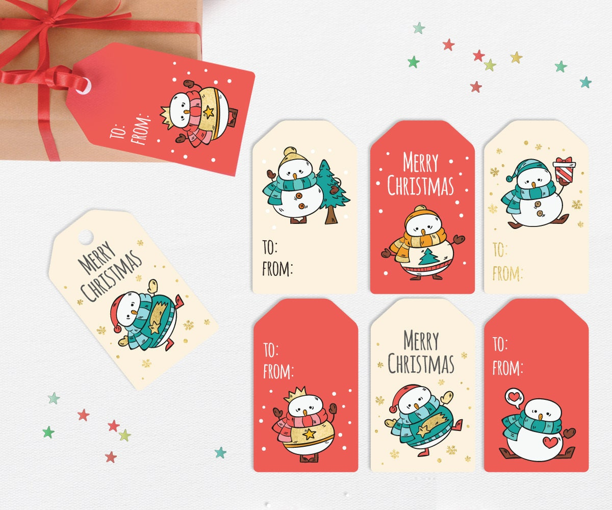 Cute Tags: Snowman Gift Tags Printable Snowmen Gift Tags Cute