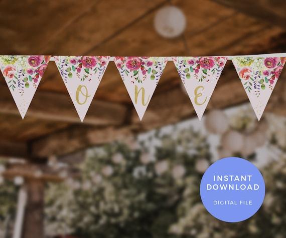 Bunting Banner Flags Garland THANK YOU Kraft Brown Cream Wedding Birthday DIY
