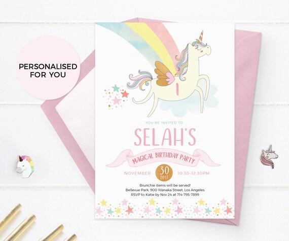 Printable unicorn invites unicorn invitations unicorn etsy image 0 filmwisefo