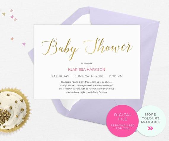 Elegant baby shower invitations printable classy baby shower etsy image 0 filmwisefo