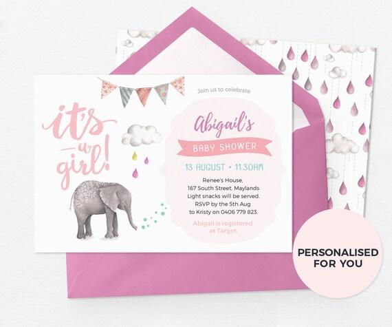 Cute baby shower invitations girl baby shower invitation etsy image 0 filmwisefo